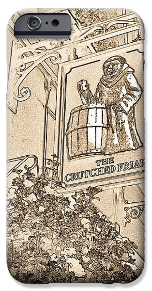 The Crutched Friar Public House IPhone Case by David Pyatt