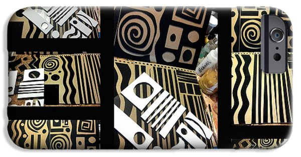 2012 Studio Play - Handmade Printing Plates IPhone Case by Angela L Walker