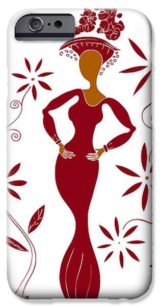 Fashion Illustration IPhone Case by Frank Tschakert