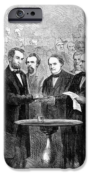 Lincolns Inauguration IPhone Case by Granger