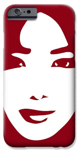 Illustration Of A Woman In Fashion IPhone Case by Frank Tschakert