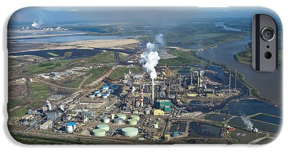 Oil Processing Plant, Athabasca Oil Sands IPhone Case by David Nunuk