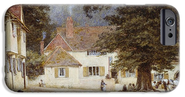 A Cart By A Village Inn IPhone 6s Case by Helen Allingham