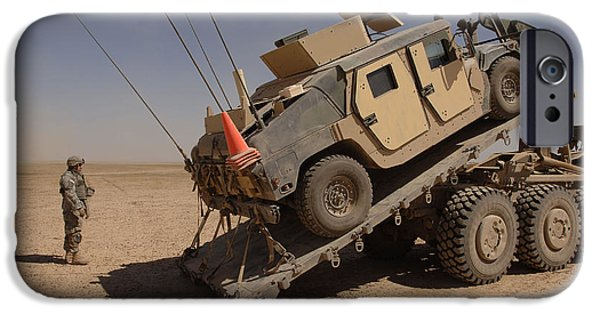 A M1114 Armored Vehicle Is Unloaded IPhone Case by Stocktrek Images