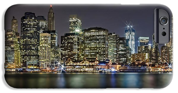 A View To Lower Manhattan IPhone Case by Susan Candelario