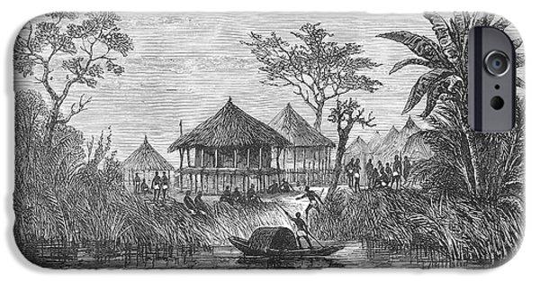 African Village, 1878 IPhone Case by Granger