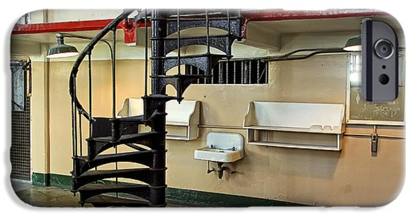 Alcatraz Penitentiary Barber Shop IPhone Case by Daniel Hagerman