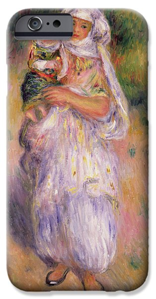 Algerian Woman And Child IPhone Case by Pierre Auguste Renoir