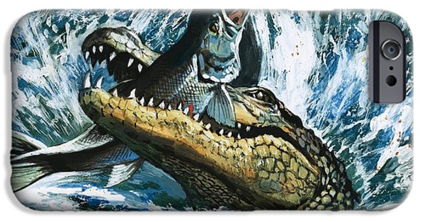 Alligator Eating Fish IPhone 6s Case by English School
