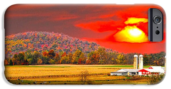 Amish Farm Sundown IPhone Case by Randall Branham