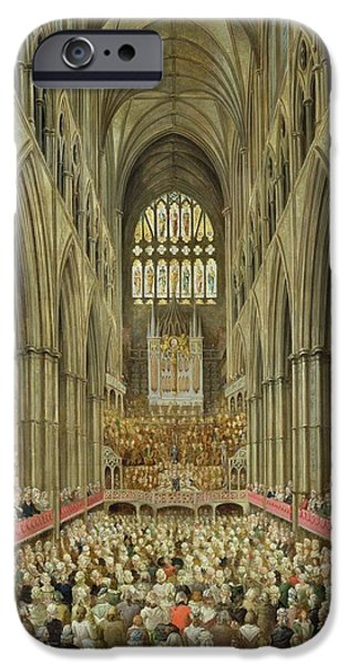 An Interior View Of Westminster Abbey On The Commemoration Of Handel's Centenary IPhone 6s Case by Edward Edwards