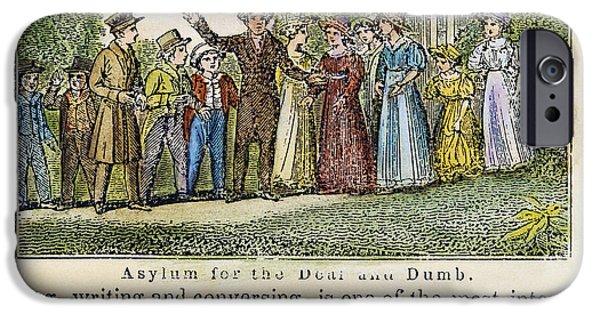 Asylum For The Deaf/dumb IPhone Case by Granger