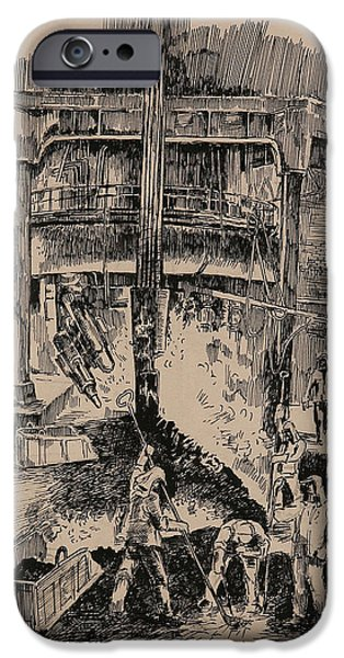 At The Blast Furnace IPhone Case by Ylli Haruni