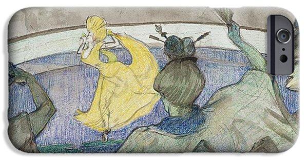 At The Circus IPhone Case by Henri de Toulouse-Lautrec