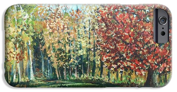 Autumn In My Backyard  IPhone Case by Shana Rowe Jackson