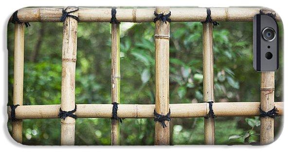 Bamboo Fence Detail Meiji Jingu Shrine IPhone Case by Bryan Mullennix
