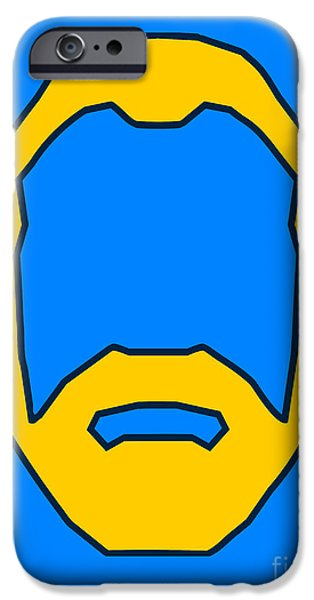 Beard Graphic  IPhone Case by Pixel Chimp