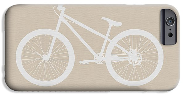 Bicycle Brown Poster IPhone Case by Naxart Studio