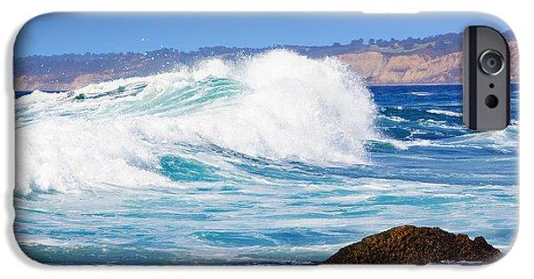 Big Blue Wave Breaks On La Jolla California's Pacific Coast IPhone Case by Susan McKenzie
