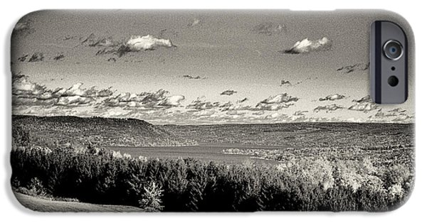 Black And White Above The Vines  IPhone Case by Joshua House