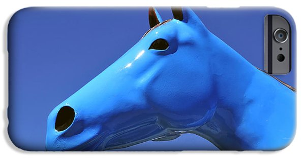 Blue Horse IPhone Case by David Lee Thompson