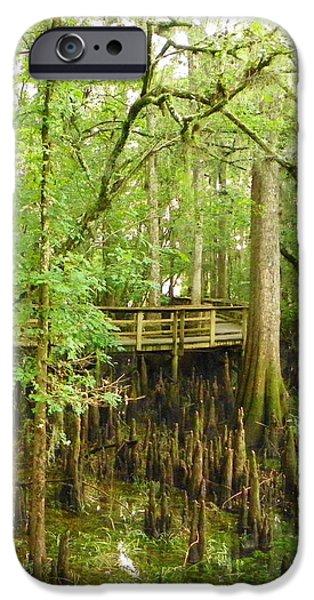 Boardwalk Manatee Springs IPhone Case by Sheri McLeroy