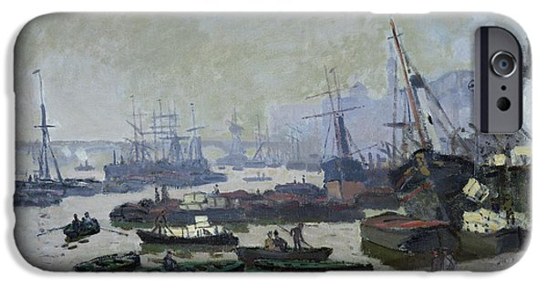 Boats In The Pool Of London IPhone Case by Claude Monet