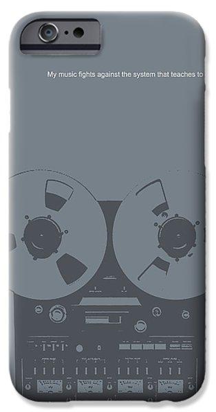 Bob Marley Poster IPhone Case by Naxart Studio