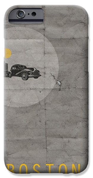 Boston Poster IPhone Case by Naxart Studio