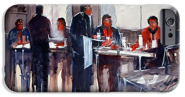 Business Lunch IPhone Case by Ryan Radke