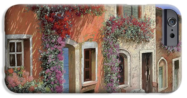 Caffe Sulla Discesa IPhone Case by Guido Borelli