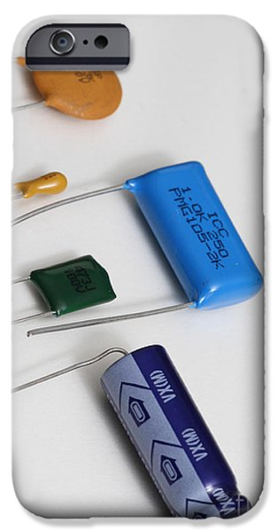 Capacitors IPhone Case by Photo Researchers, Inc.