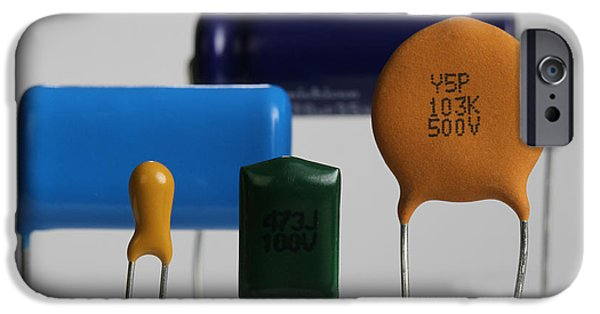 Capacitors IPhone Case by Photo Researchers