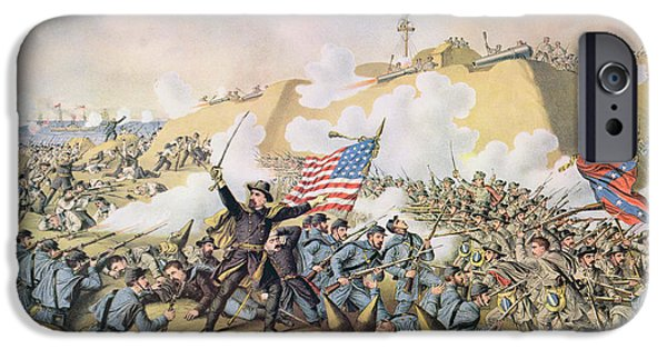 Capture Of Fort Fisher 15th January 1865 IPhone Case by American School