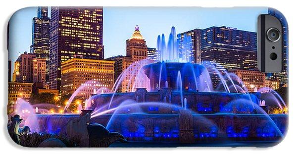 Chicago Skyline Buckingham Fountain High Resolution IPhone Case by Paul Velgos