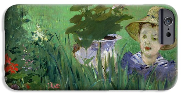 Child In The Flowers IPhone Case by Edouard Manet
