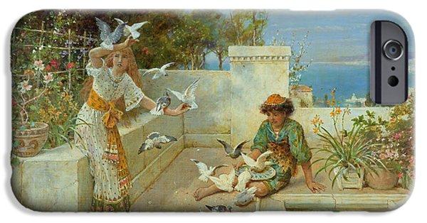 Children By The Mediterranean  IPhone Case by William Stephen Coleman