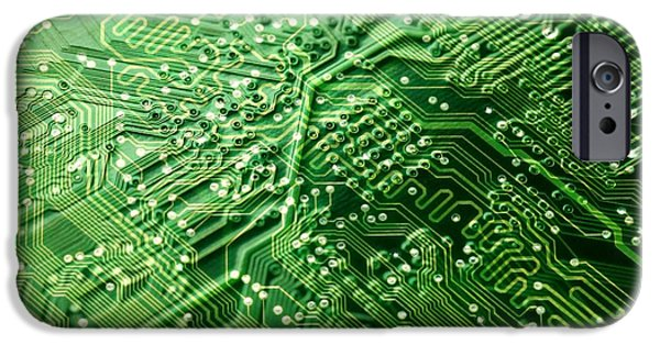 Circuit Board, Computer Artwork IPhone Case by Pasieka