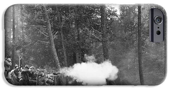 Confederate Breastworks Carnifax Ferry IPhone Case by Thomas R Fletcher