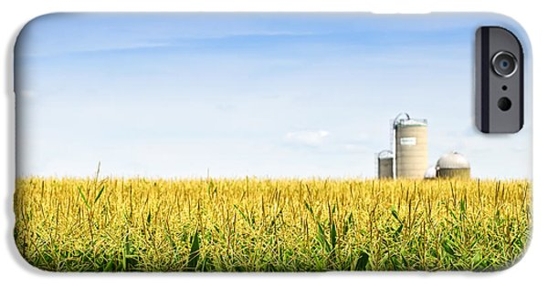 Corn Field With Silos IPhone 6s Case by Elena Elisseeva