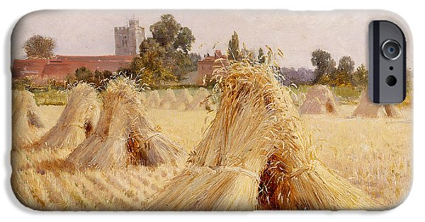 Corn Stooks By Bray Church IPhone Case by Heywood Hardy
