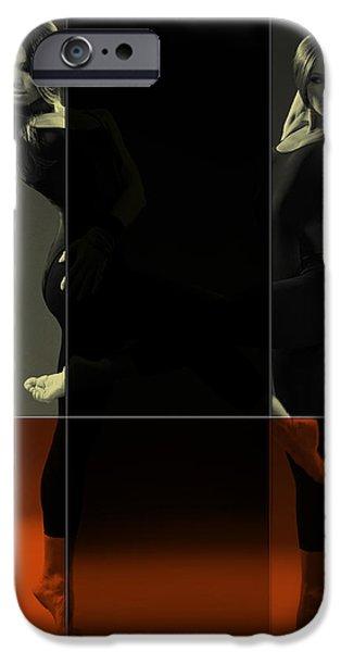 Dancing Mirrors IPhone Case by Naxart Studio