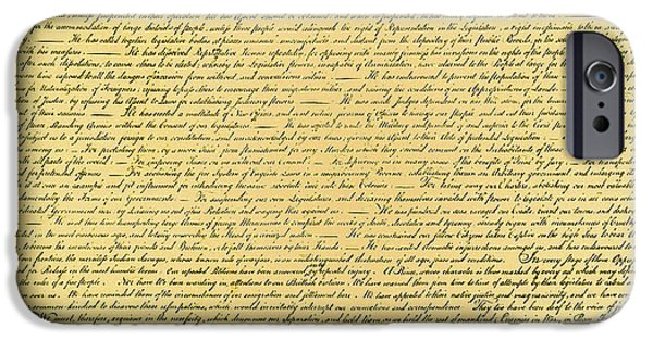 Declaration Of Independence IPhone Case by Photo Researchers