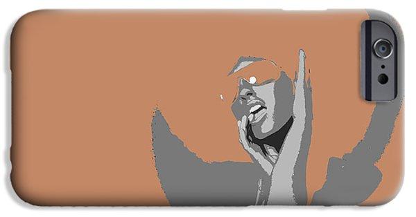 Disco Dance Brown IPhone Case by Naxart Studio