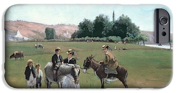 Donkey Ride IPhone 6s Case by Camille Pissarro