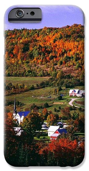 East Orange Village In Fall, Vermont IPhone Case by Bilderbuch