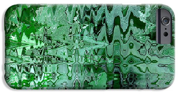 Emerald City - Abstract Art IPhone Case by Carol Groenen