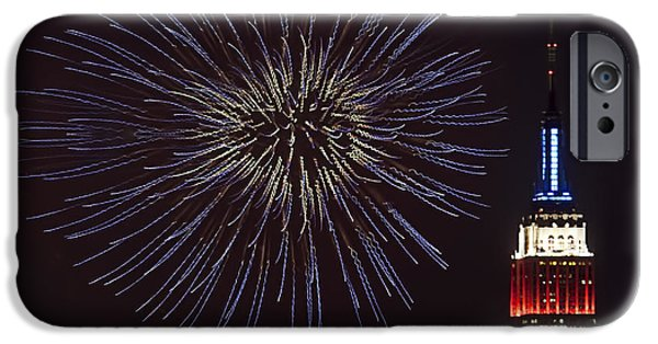 Empire State Fireworks IPhone Case by Susan Candelario