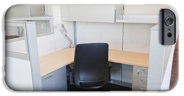 Empty Office Cubicle IPhone Case by Jetta Productions, Inc