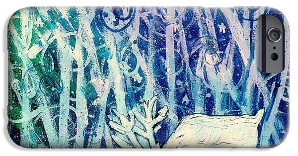 Enchanted Winter Forest IPhone Case by Shana Rowe Jackson